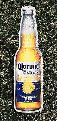 "NEW Corona Extra Beer Bottle Tin Metal Sign, 22"" x 6"""