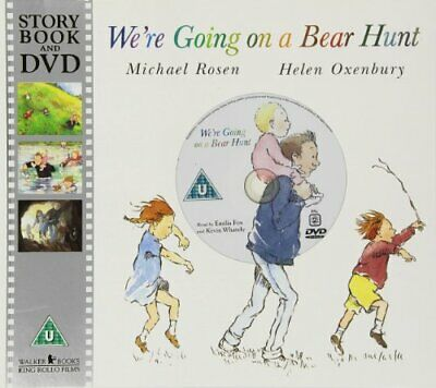 We're Going on a Bear Hunt (Book & DVD) by Michael Rosen Paperback Book The