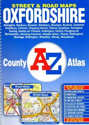 Oxfordshire County Atlas by Geographers A-Z Map Company Hardback Book The Cheap