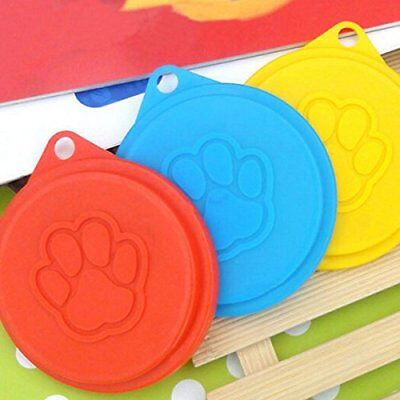 4 Pet Food Can Covers Cat Dog Reusable Plastic Lid Cover