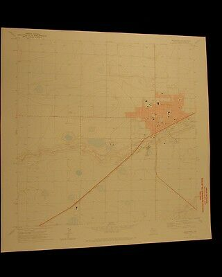 Hereford Texas vintage 1974 original USGS Topographical chart
