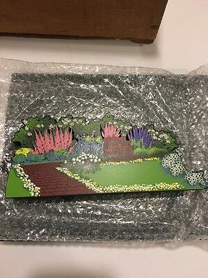 Sheila's Wood Collectible, My Favorite Places Garden Bench, Limited Ed. Acl18