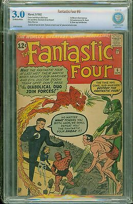 Fantastic Four #6 [1962] Certified[3.0] Subby Returns