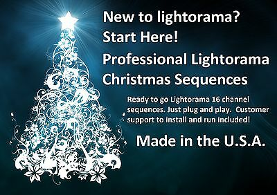 New Professional Light O Rama 16 channel Sequences. LOR Christmas. $20.00 each