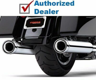 "Cobra NH Neighbor Hater Chrome 4"" 4.5""  Slip On Mufflers Exhaust Harley Touring"