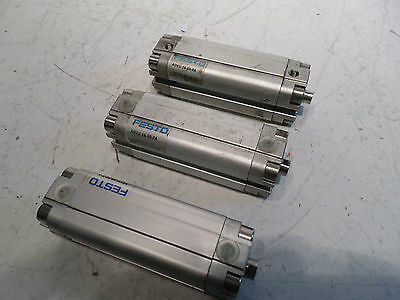 FESTO AIR CYLINDER Lot of 3 - 16mm Bore x50 stroke ADVU-16-50-P-A -- 156001