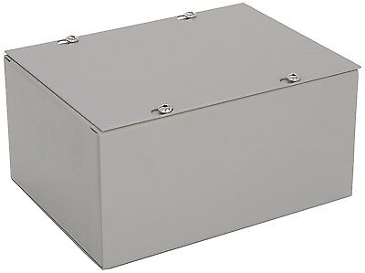 Bud NEMA 1 Sheet Metal Junction Box Electrical Enclosure Project, 6x8x4