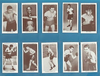 Churchman cigarette cards - BOXING PERSONALITIES - mint condition full set.