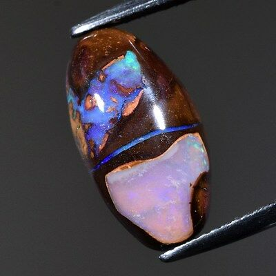 6.14ct Natural Koroit Nut Boulder Opal In Crystal Core (Some Earth Fracture)