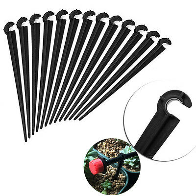 100X 4mm/7mm Plastic Micro Hose Fixed C-Type Holders Drip Irrigation Accessories
