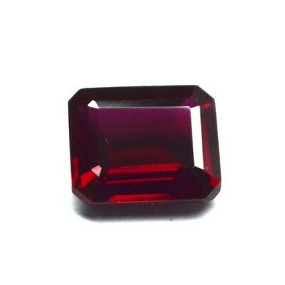 On Sale ! AAA Lab Created Piegon Blood Ruby Octagon Emerald Cut 10x12mm