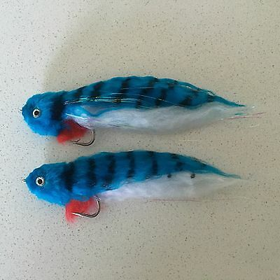 2 x Saltwater Fly Fishing Flies - Polar Fibre Baitfish - Great For Natives & Cod