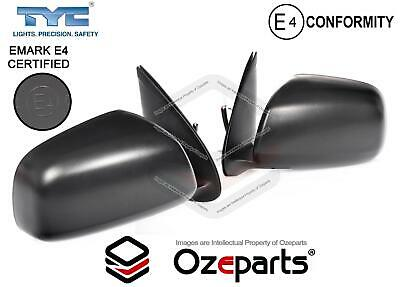 Set / Pair LH+RH Electric Door Mirror Black For Toyota Hilux Ute 2WD 4WD 05~10