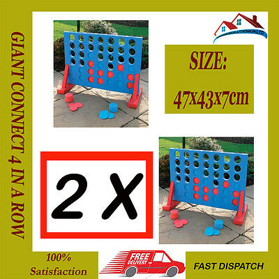 2X4 In A Row Giant Connect Garden Outdoor Game Kids Adults Family Party Fun Gift