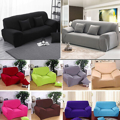 1/2/3 Seater Sofa Covers Soft Couch Slipcover Stretch Elastic Easy Fit Protector