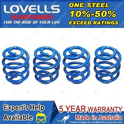 Front + Rear Super Low Coil Springs Fit Holden Commodore VT VX VY VZ Sedan