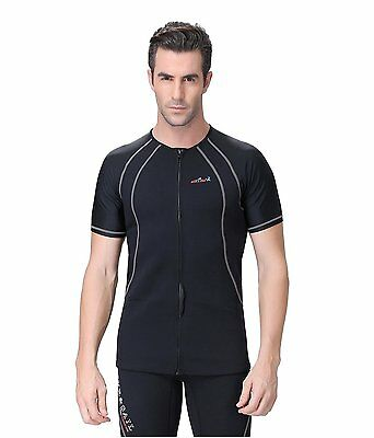 Men's Short Sleeve Neoprene Top/Lycra Arms- Kayaking/Snorkeling/Canoeing etc.