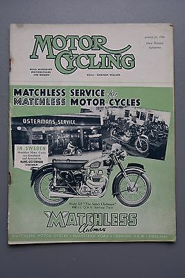 R&L Mag: Motor Cycling Jan 21 1954 Tim Hunt Part 2/Brussels Show/St David's