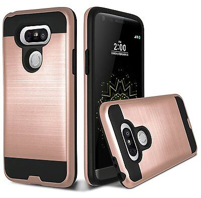 For LG G5 Case Brushed Metal Texture Slim Armor Protector Phone Cover