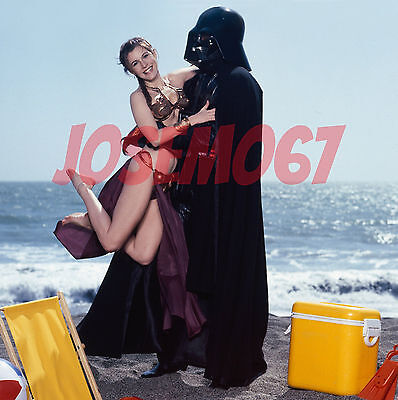 Carrie Fisher Star Wars (Slave Leia Costume) 8x10 Photo #6