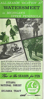 Vintage Brochure for Watersmeet Michigan