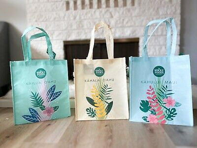 Whole Foods Bag Set Of 3 Hawaii Eco Friendly Market Tote New