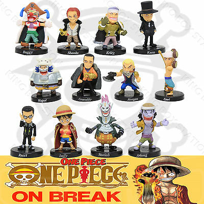 12pcs One Piece Figure Anime Luffy Main Figures Full Doll Set Toy Gift 5-7cm