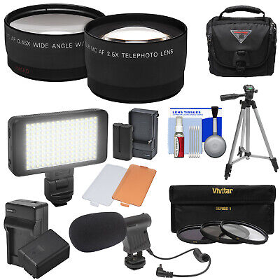 Essentials 2 Lens Bundle for Panasonic V770 VX981 WX970 & WXF991 Camcorder