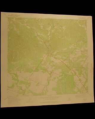 Helotes Texas vintage 1975 original USGS Topographical chart