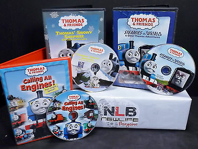 3 Thomas & Friends DVD Movies Calling All Engines and more
