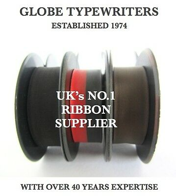 2 x OLYMPIA TYPEWRITER RIBBONS *FITS MOST MACHINES* TOP QUALITY *10M* TWIN SPOOL