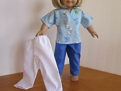 What's Up Doc? Nurse Doctor Scrub Set + 10-Piece Medical Kit fits American Girl