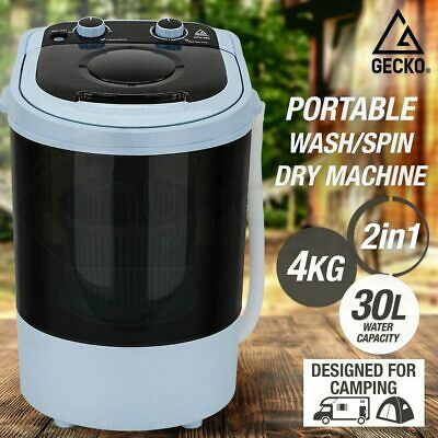 NEW GECKO 4kg Mini Portable Washing Machine Camping Caravan Outdoor RV Boat Dry