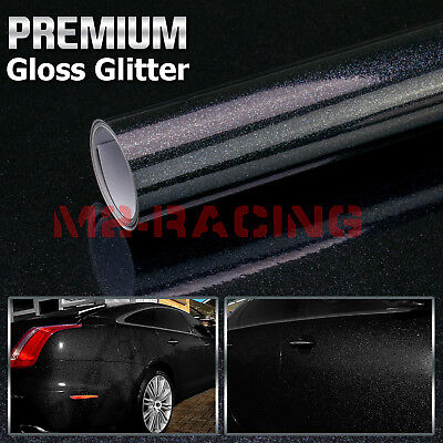 """4/"""" x 8/"""" SAMPLE Silver Frosted Glitter Sparkle Sticker Decal Car Vinyl Wrap"""