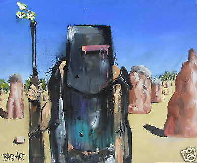 NED KELLY art painting orginal abstract Andy Baker Australia large