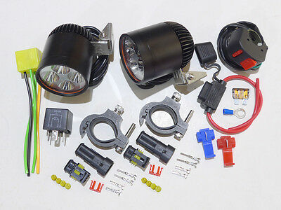 Motorcycle LED Lighting 3000LM 12V Cree x2 Farkle My Ride Advrider Tiger 1050