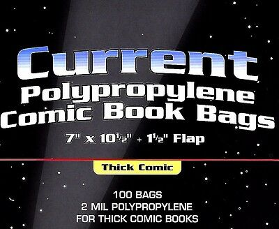 500 Current Comic Thick Bags and Boards Modern Archival Book Storage BCW