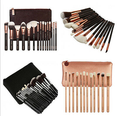 Hot Zoeva Complete Face And Eye Brush Set With Case 8 / 12 / 15 Piece Set Kit