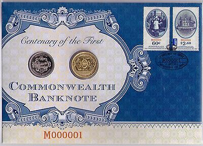 2013 Centenary of the First Commonwealth Banknote M000001 - PNC