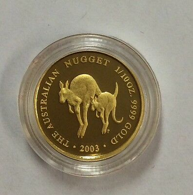 2003 the Australian nugget 1/10 oz gold coin - Perth mint  coin in capsule only
