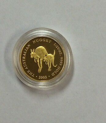 2003 the Australian nugget 1/20 oz gold coin - Perth mint coin in capsule only n