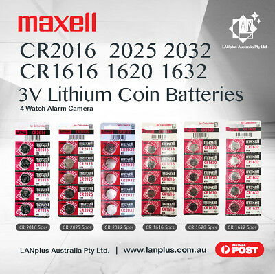 Maxell CR2016 CR2025 CR2032 CR1616 CR1620 CR1632 3V Lithium Battery Stock in Mel