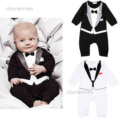 Newborn Baby Boy One-piece Romper Jumpsuit Bodysuit Playsuit Clothes Outfit Suit