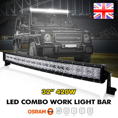 "Cree 5D 32""Inch 420W Curved Led Work Light Bar Spot Flood Offroad 4WD Truck ATV"