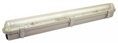 Weatherproof LED Batten Complete twin fitting with LED tube included