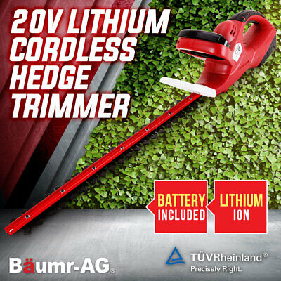 """Baumr-AG Cordless Hedge Trimmer 20V Electric Garden Tool Lithium-Ion 22"""" Blade"""