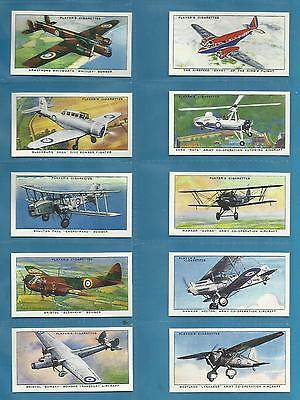 Players cigarette cards - AIRCRAFT OF THE ROYAL AIR FORCE - Mint full set