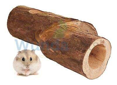 Trixie Dwarf Hamster Mouse Wooden Tube With Curve Tunnel Play Toy 29Cm 6213