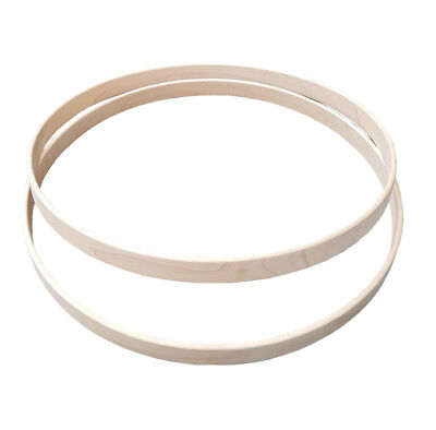 "Shaw 16"" Wooden Maple Bass Drum Hoops (PAIR) SHMH16"