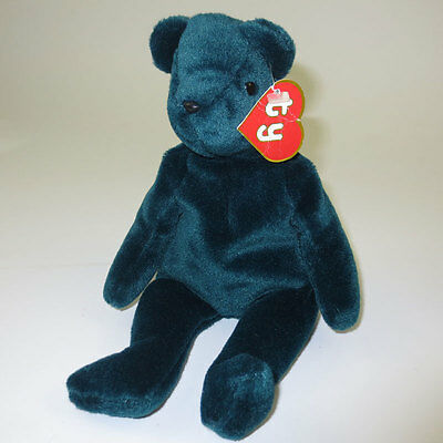 TY Beanie Baby - TEDDY JADE - OLD FACE (1st Gen Hang Tag - MWNMT's) - Authentic